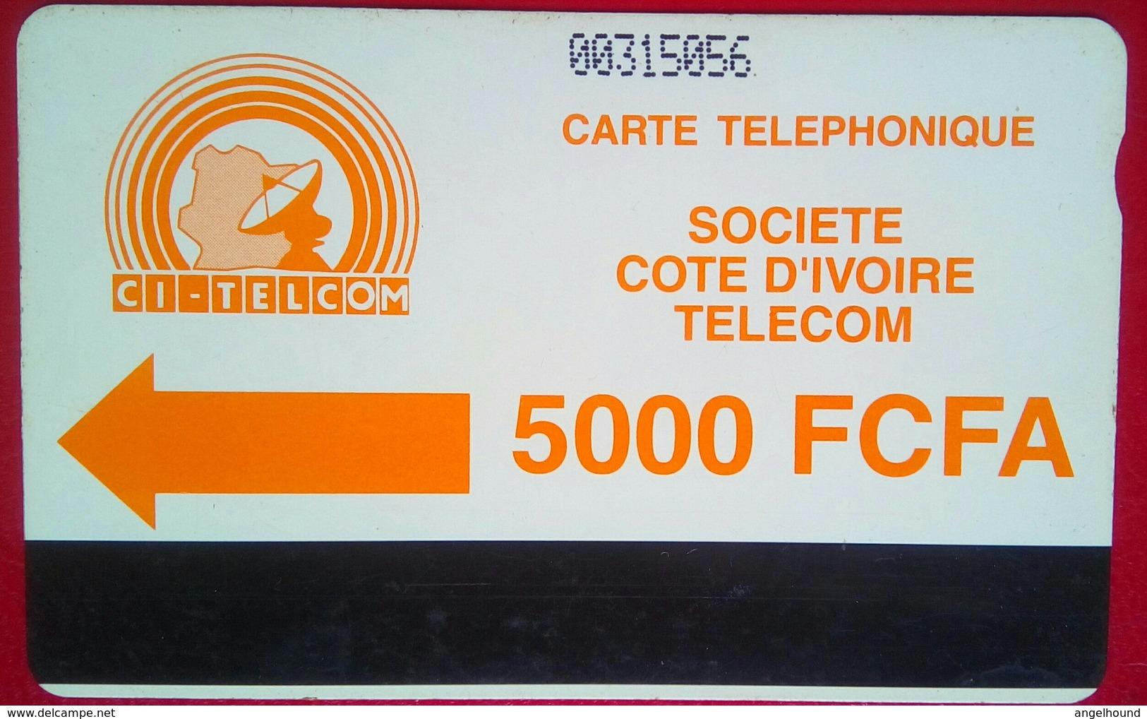 Ivory Coast Phonecard 5000 Francs Autelca - Costa De Marfil