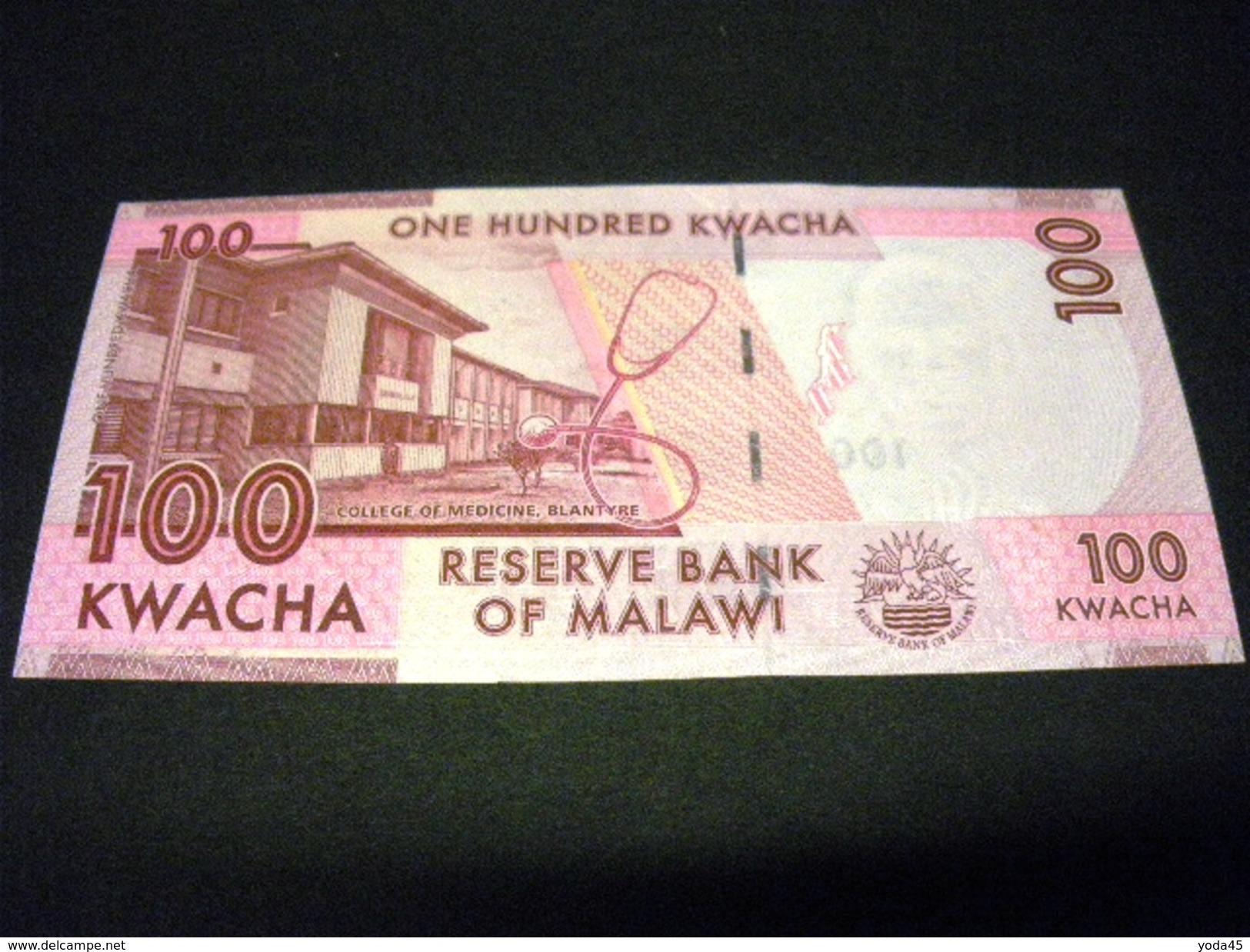 MALAWI 100 Kwacha 01/01/2012 , Pick N° 59 A , MALAWI - Malawi