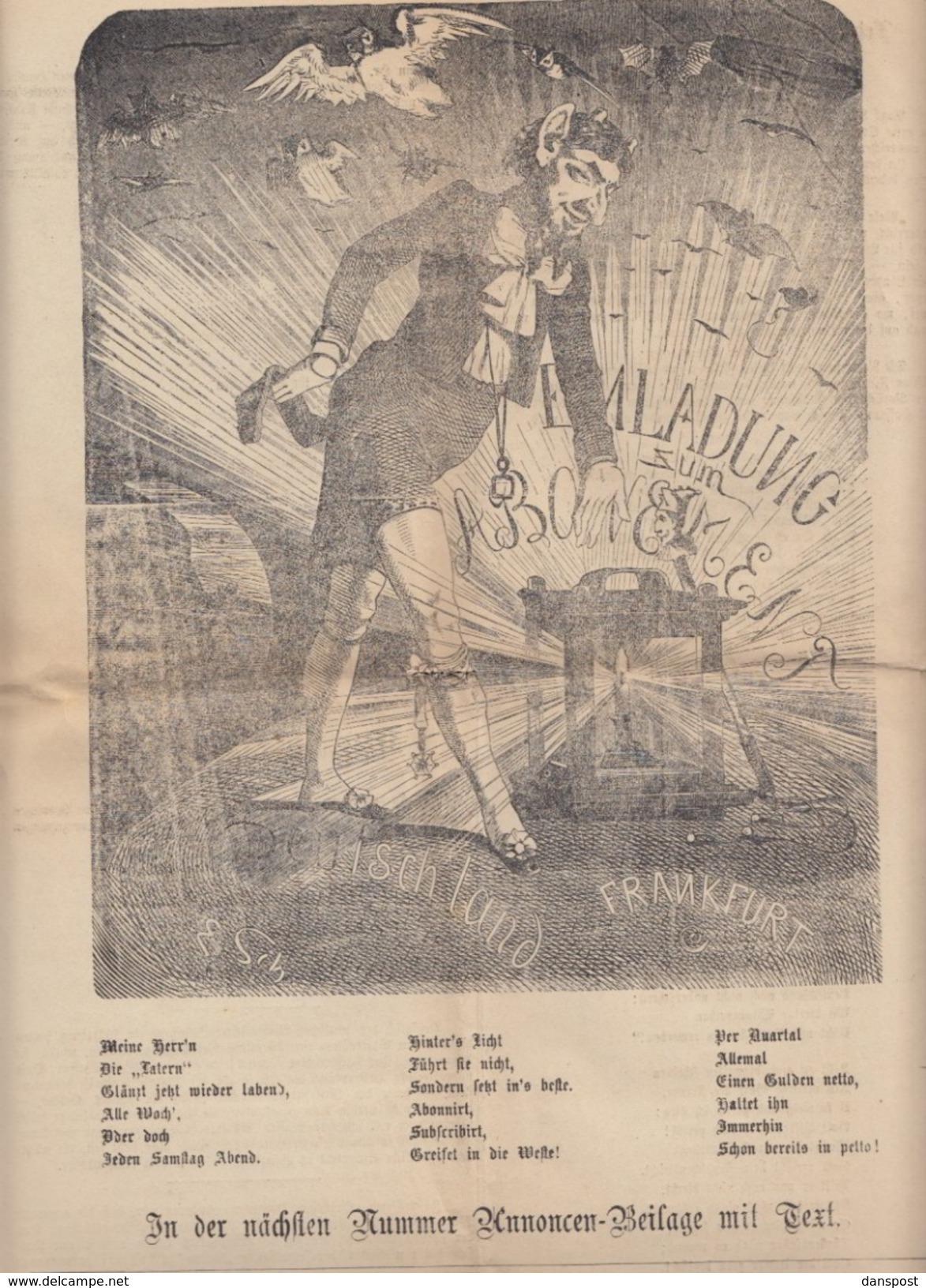 Frankfurter Latern 17. Februar 1872 Friedrich Stoltze - Magazines & Newspapers