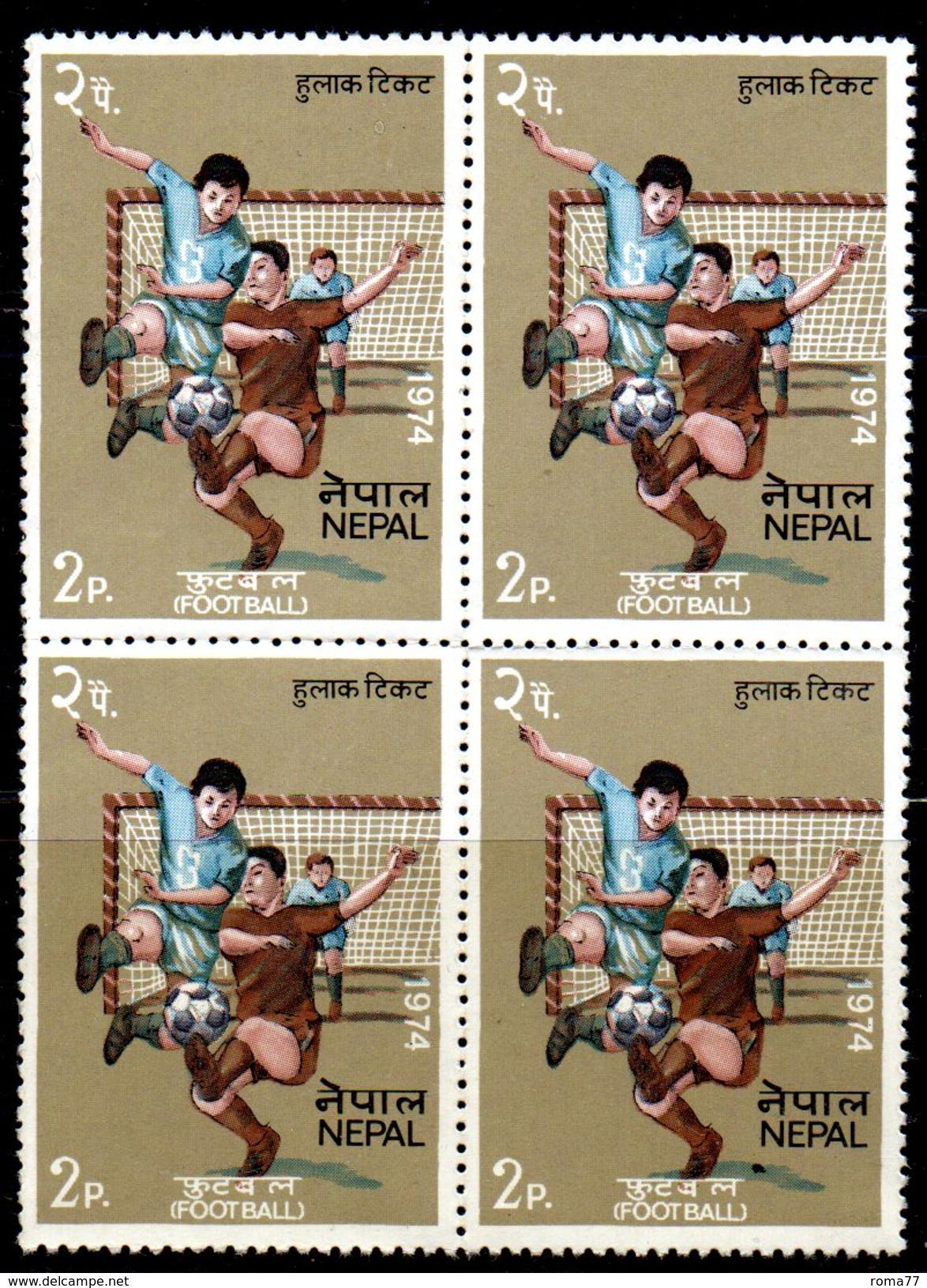 BF1 - NEPAL 1974 , Quartina Ripiegata Del 2 P.  *** . - Coppa Del Mondo