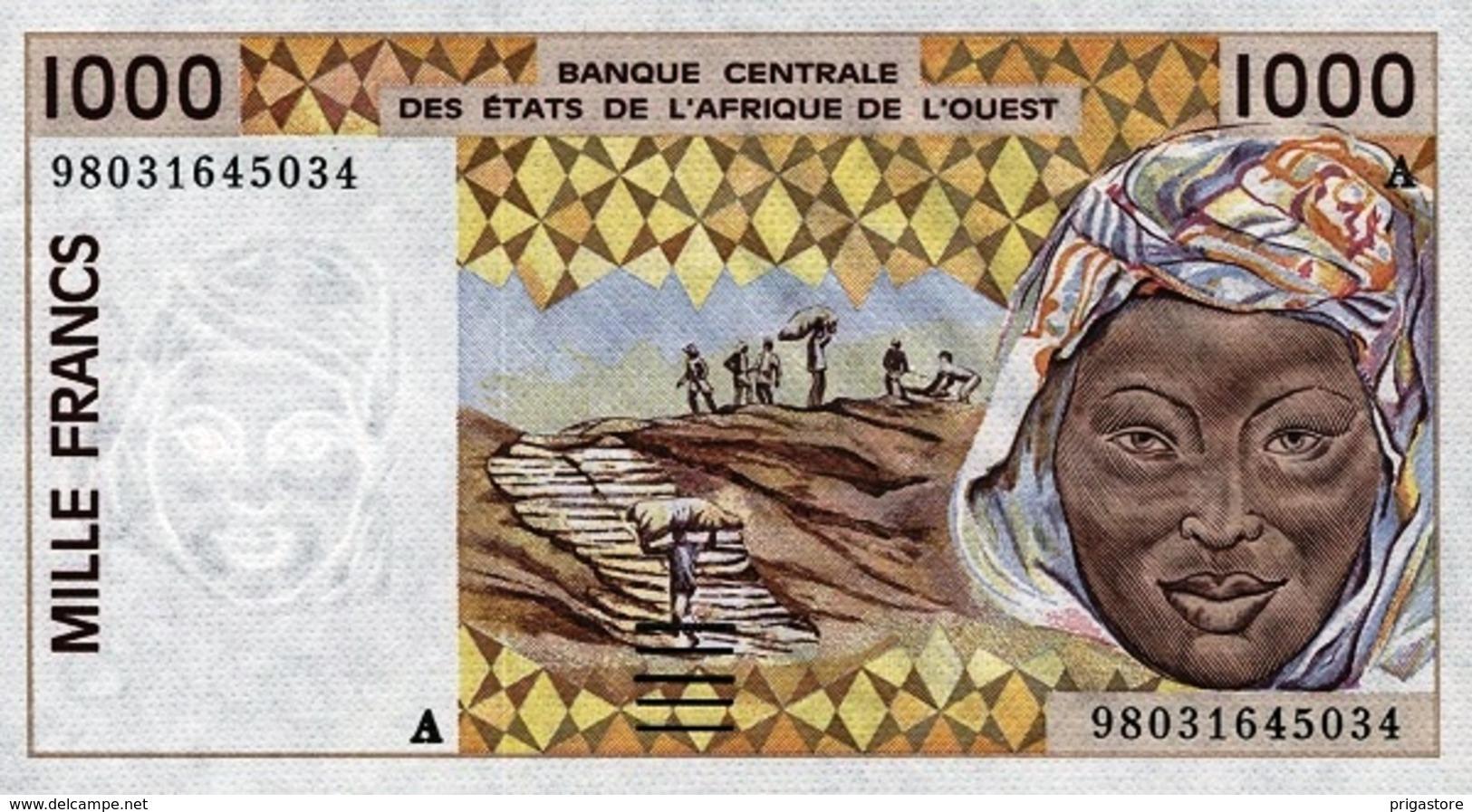 West African States - Afrique De L´ouest Côte D'Ivoire 1998 Billet 1000 Francs Pick 111 H Neuf 1er Choix UNC - Ivoorkust