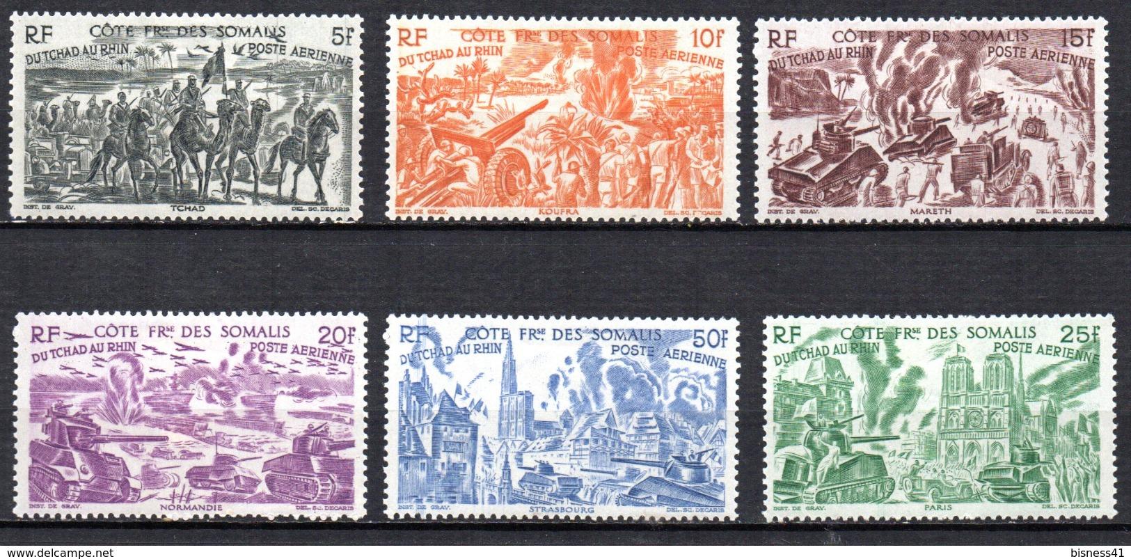 Col 4/ Cote Des Somalis PA N° 14 à 19  Neuf X  MH  Cote 18,00€ - Côte Française Des Somalis (1894-1967)