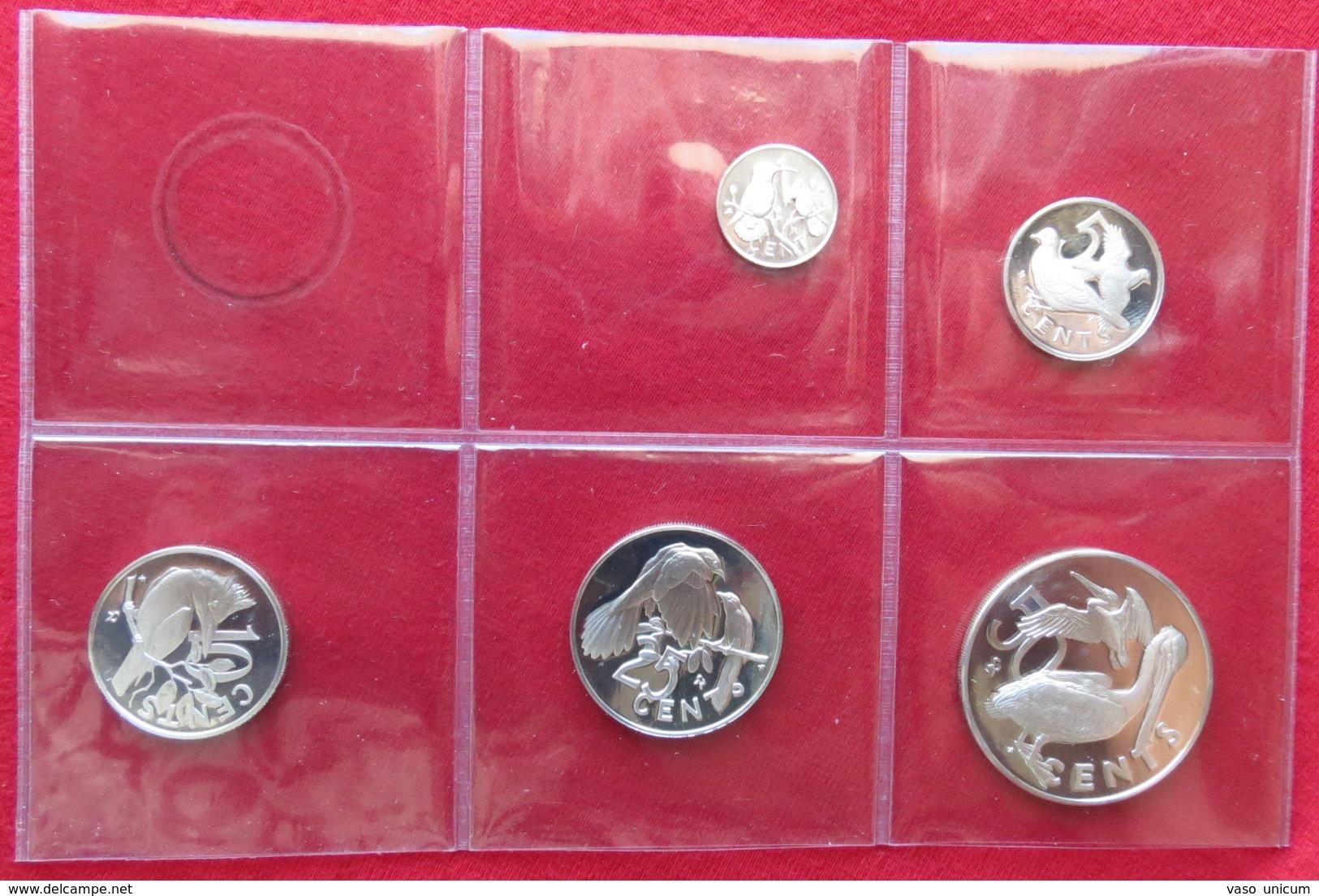 British Virgin Islands Set 1 5 10 25 50 Cents 1978 SILVER - British Virgin Islands