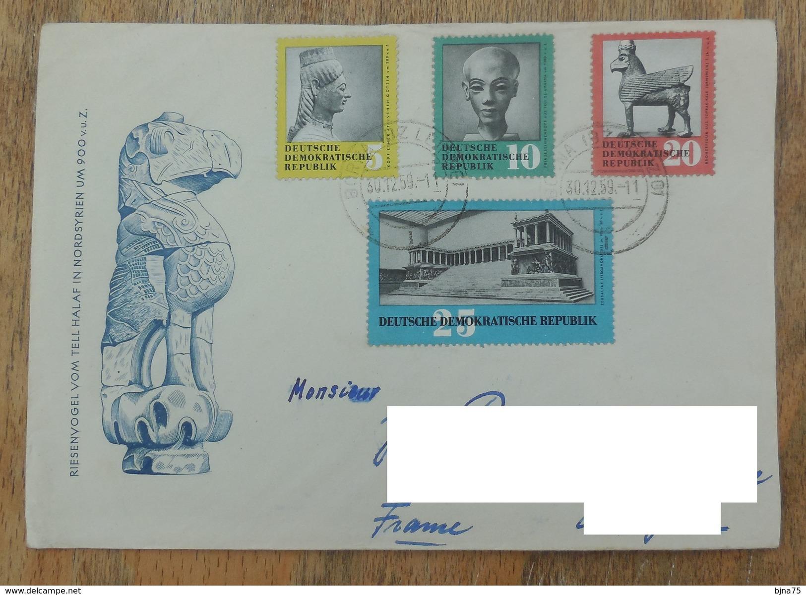 DDR 1959 SERIE N° YT 458 459 460 461 -  TRESORS ARTISTIQUES RESTITUES PAR L'URSS - [6] Oost-Duitsland