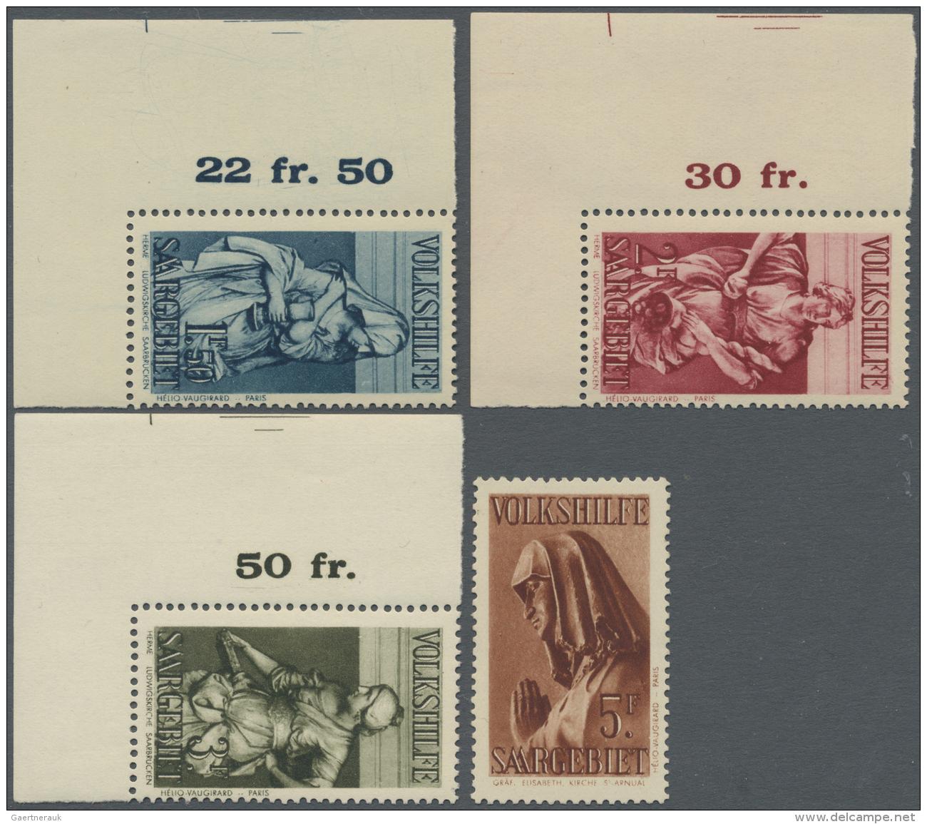 Deutsche Abstimmungsgebiete: Saargebiet: 1934, Volkshilfe Stadtbilder Aus Saarbrücker Kirchen Als Tadellos Postfris - 1920-35 League Of Nations