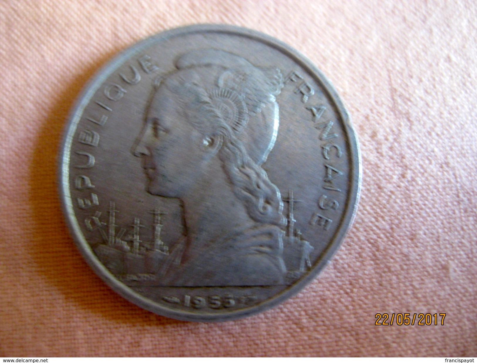 France: La Réunion 5 Francs 1955 - Réunion