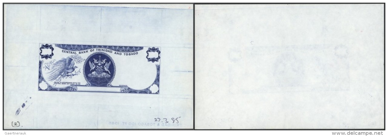 Trinidad & Tobago: 100 Dollars ND(1985) PROOF P. 40p. This Example Is A Currency Designers Proof Print Which Is Reco - Trinidad & Tobago