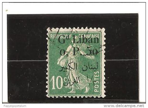 TIMBRES DE FRANCE De 1900 - 24 Surchargés Bilingue  N° 24  Oblitéré - Great Lebanon (1924-1945)