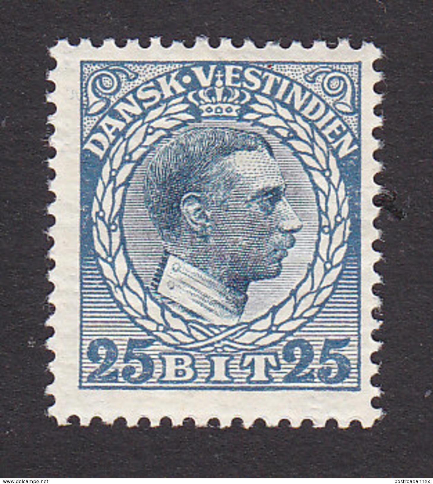 Danish West Indies, Scott #55, Mint Hinged, Christian X, Issued 1915 - Denmark (West Indies)