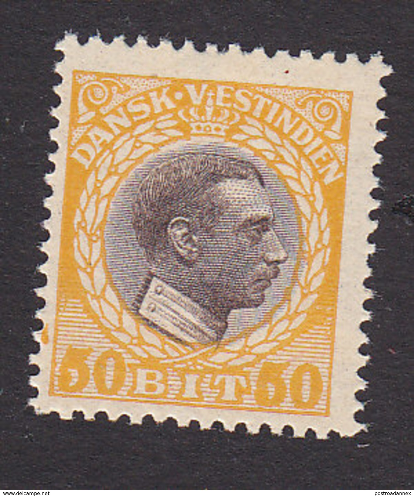 Danish West Indies, Scott #58, Mint Never Hinged, Christian X, Issued 1915 - Denmark (West Indies)