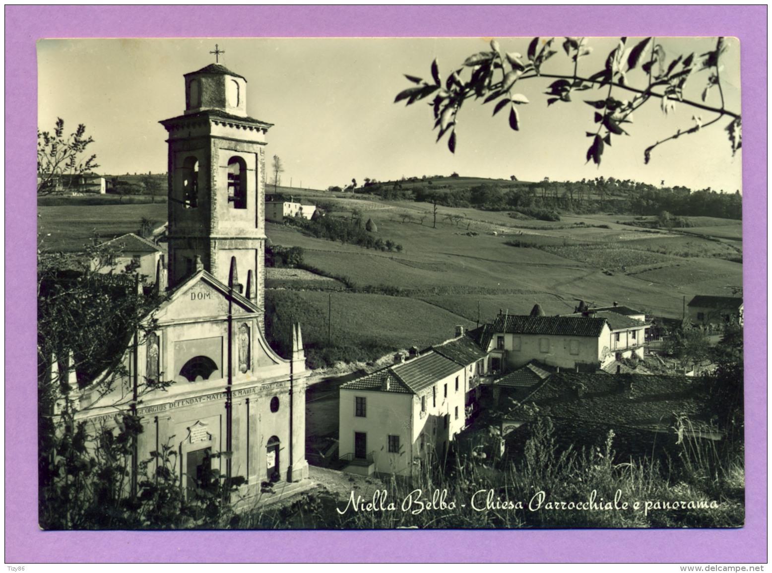 Niella Belbo - Chiesa Parrocchiale E Panorama - Cuneo