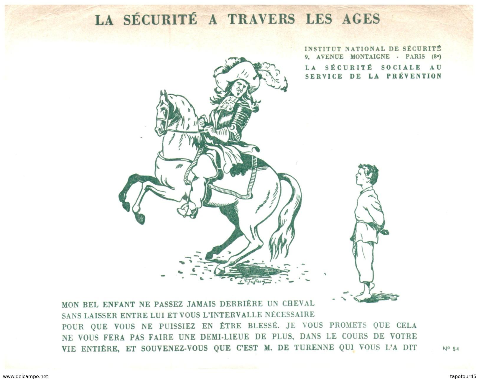 S S S/Buvard Sécurité Sociale Prévention (N= 4) - Buvards, Protège-cahiers Illustrés