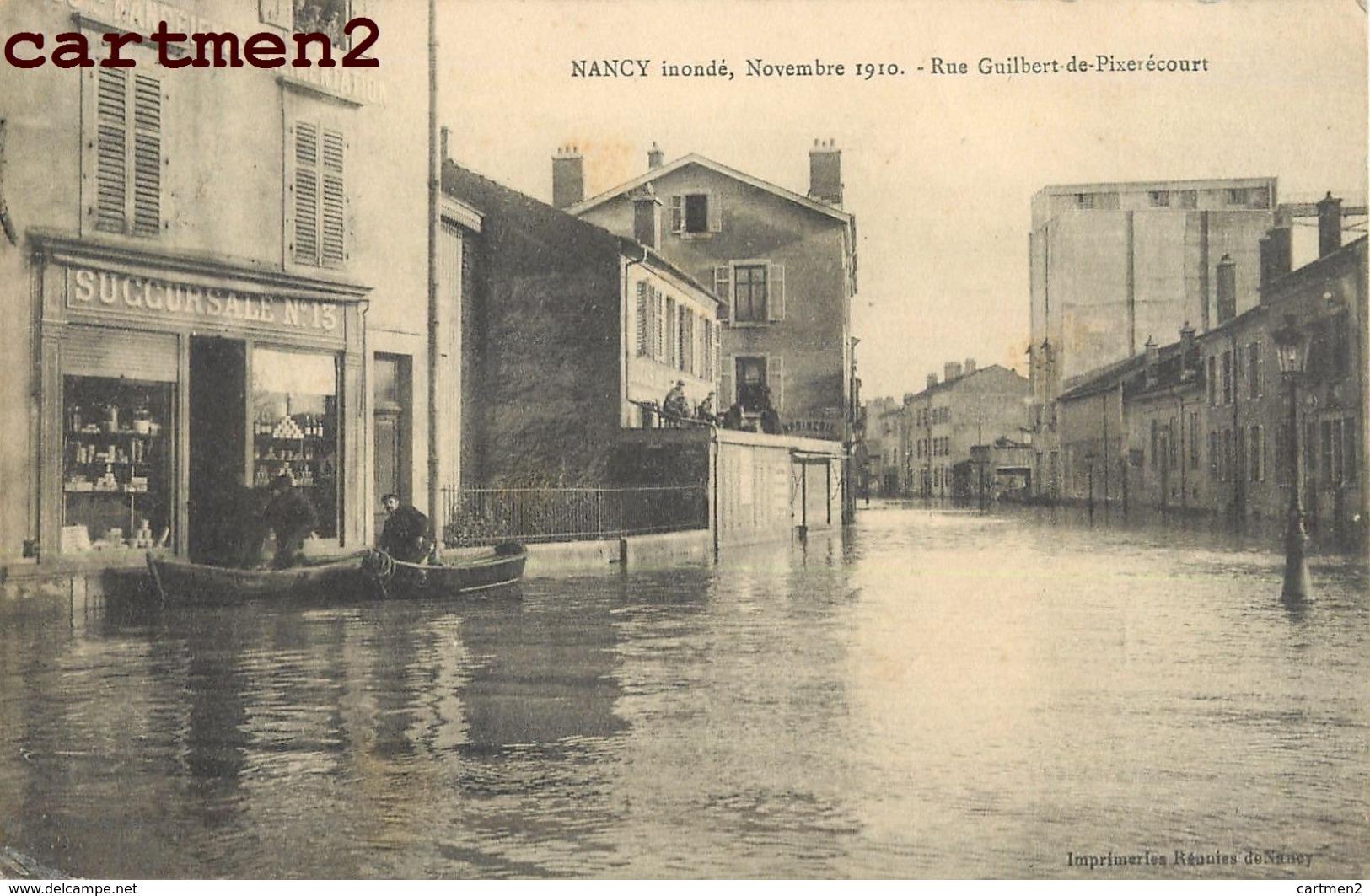 NANCY INONDE RUE GUILBERT-DE-PIXERECOURT 54 - Nancy
