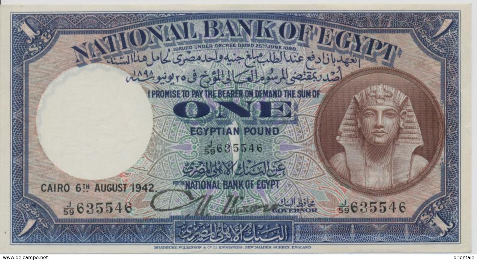 EGYPT  P. 22c 1 P 1944 XF - Egypte