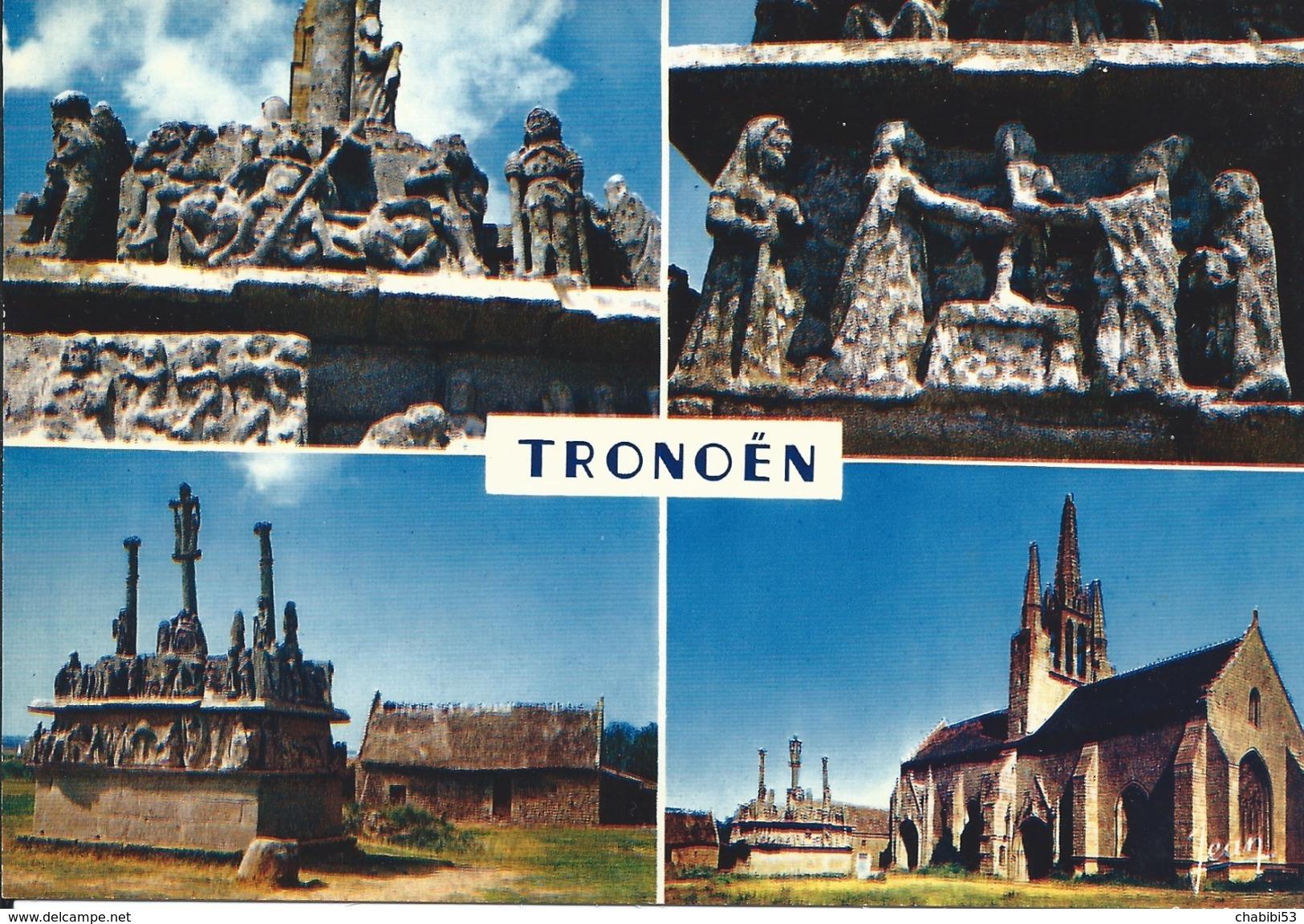 29 - TONOËN - St JEAN TROLIMON - L'église Et Le Calvaire - Saint-Jean-Trolimon