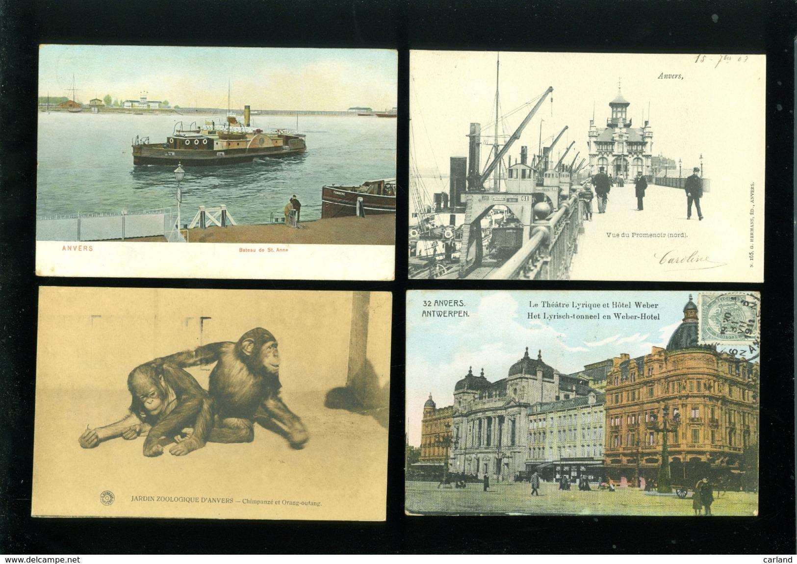 Grand Lot De 400 Cartes Postales D' Anvers (genre Drouille) Groot Lot 400 Postkaarten Van Antwerpen  ( Brol ) - 51 Scans - 100 - 499 Cartes