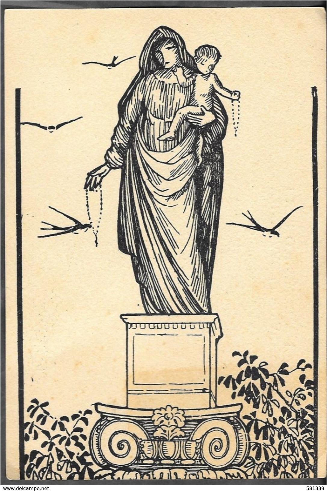 """CARTOLINA """"OPERA S.DOMENICO PER FIGLI DIVINA PROVVIDENZA BOLOGNA""""  Scritta 1949 - Vergine Maria E Madonne"""