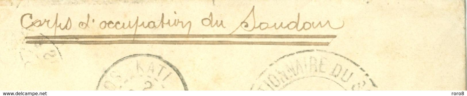CORPS D'OCCUPATION DU SOUDAN CACHET SOUDAN DU 9 OCT. 1899 ET DIVERS AUTRES CACHETS AUSSI AU VERSO SIGN. DU VAGUEMESTRE - Sudan (1894-1902)