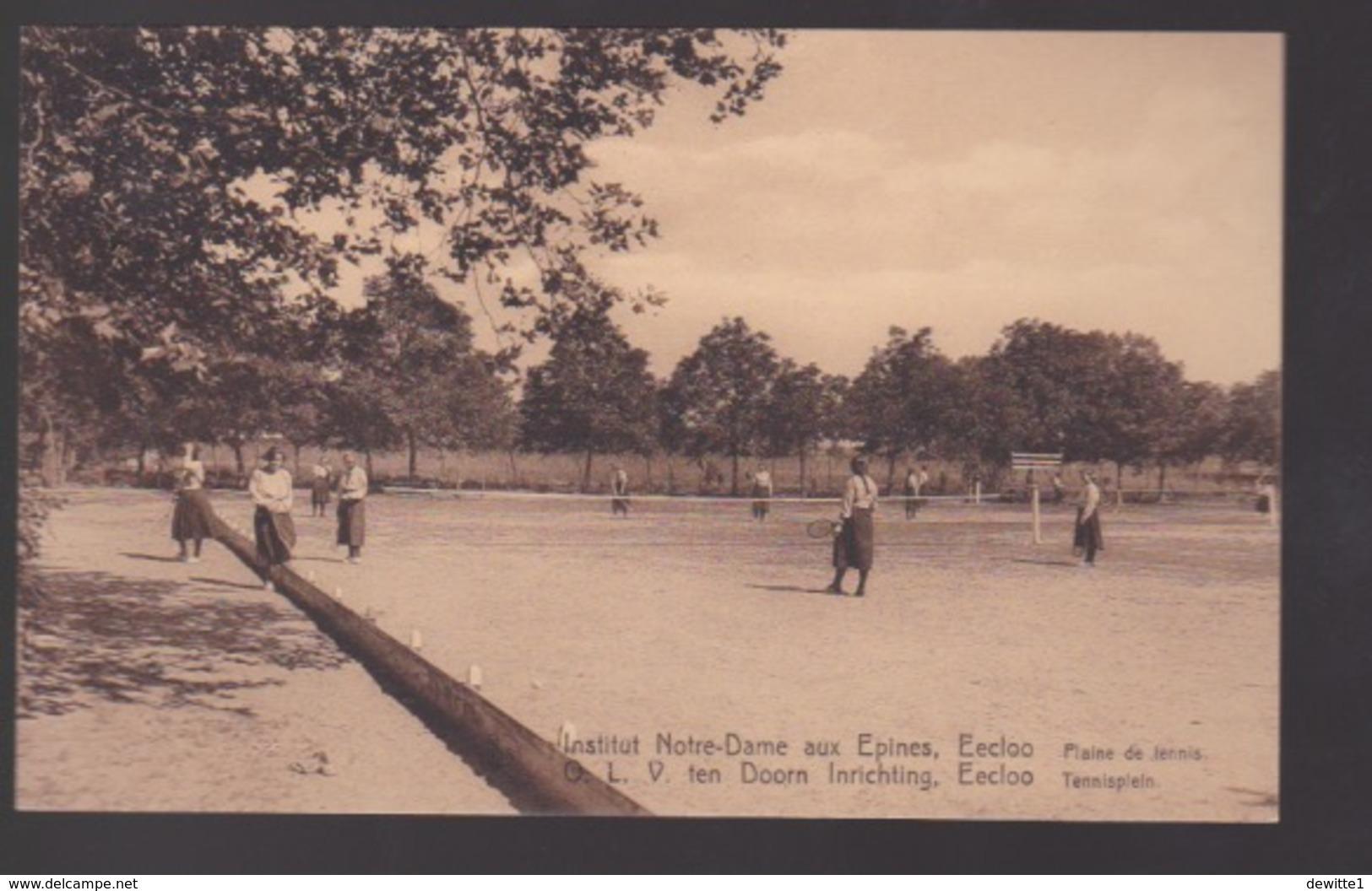 Eeklo. O.L.V. TEN DOORN  INRICHTING    Tennisplein. - Eeklo