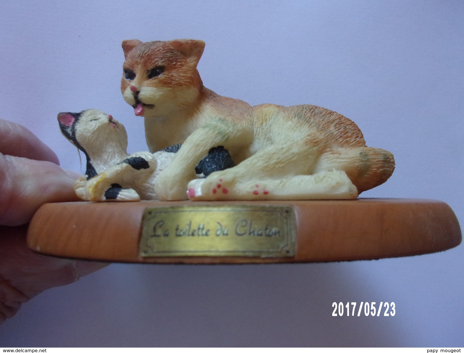 """Chat En Résine """"toilette Du Chaton"""" - Katten"""
