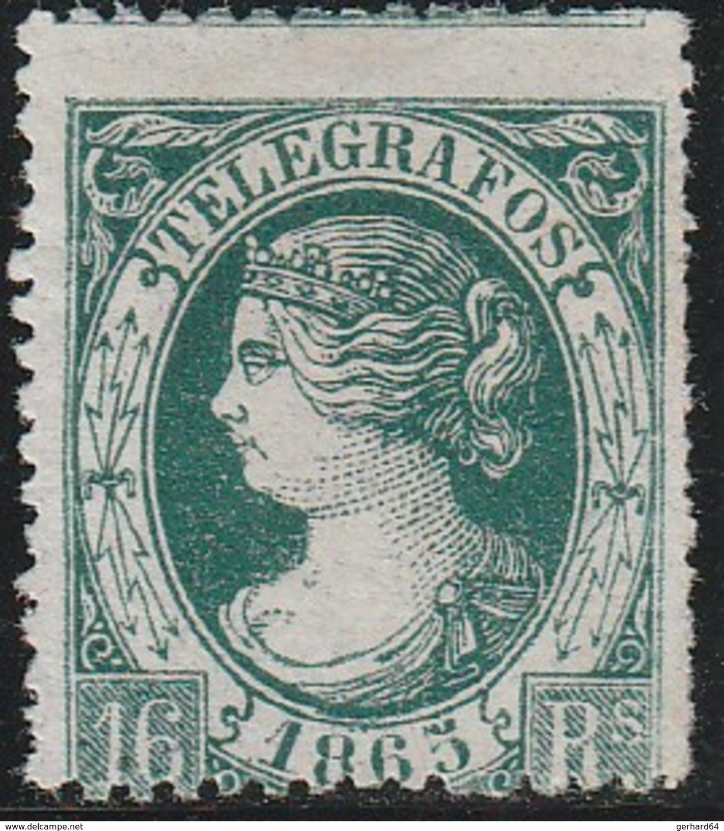 ESPAGNE 1865 - Télégraphe (Telegrafos) N° 11 - Neuf Sans Gomme - Telegrafi