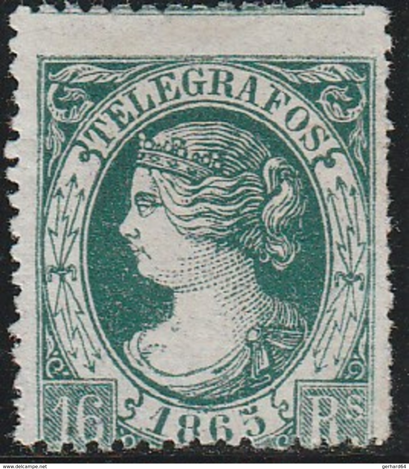 ESPAGNE 1865 - Télégraphe (Telegrafos) N° 11 - Neuf Sans Gomme - Télégraphe