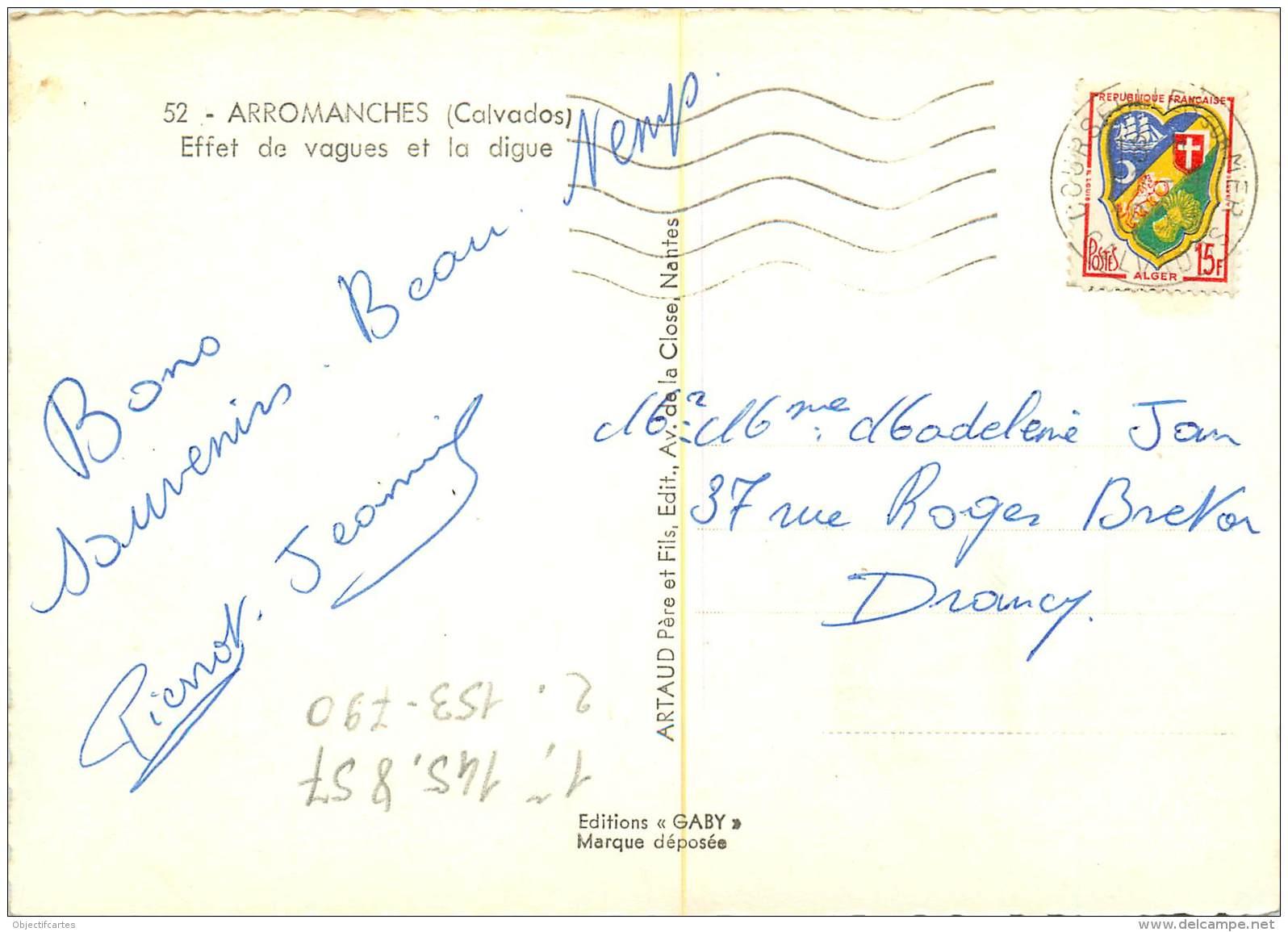ARROMANCHES  Les Vagues Sur La Digue  31   (scan Recto-verso)MA1902Ter - Arromanches