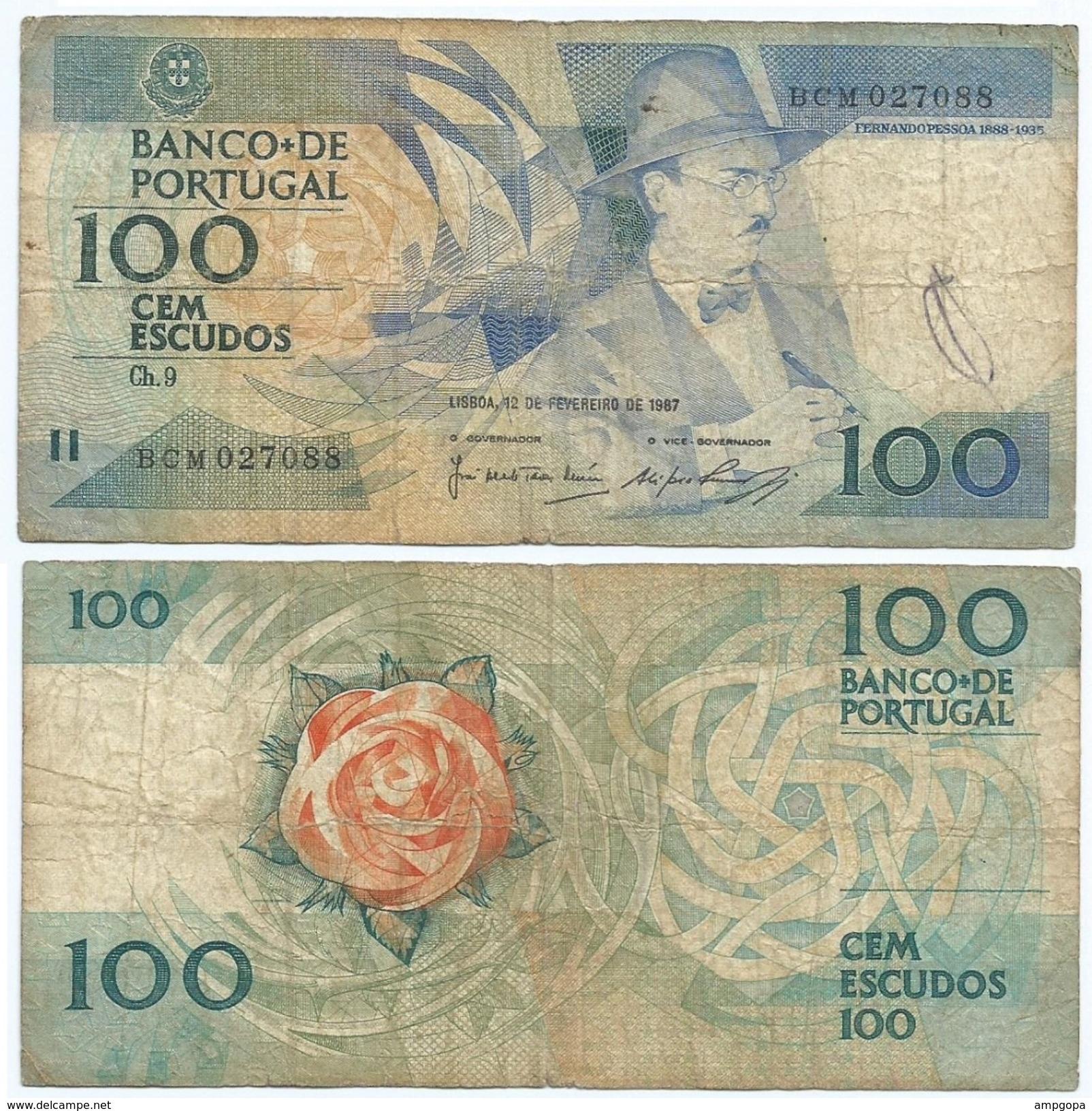 Portugal 100 Escudos 12-02-1987 Pick 179.b.3 Ref 506 - Portugal