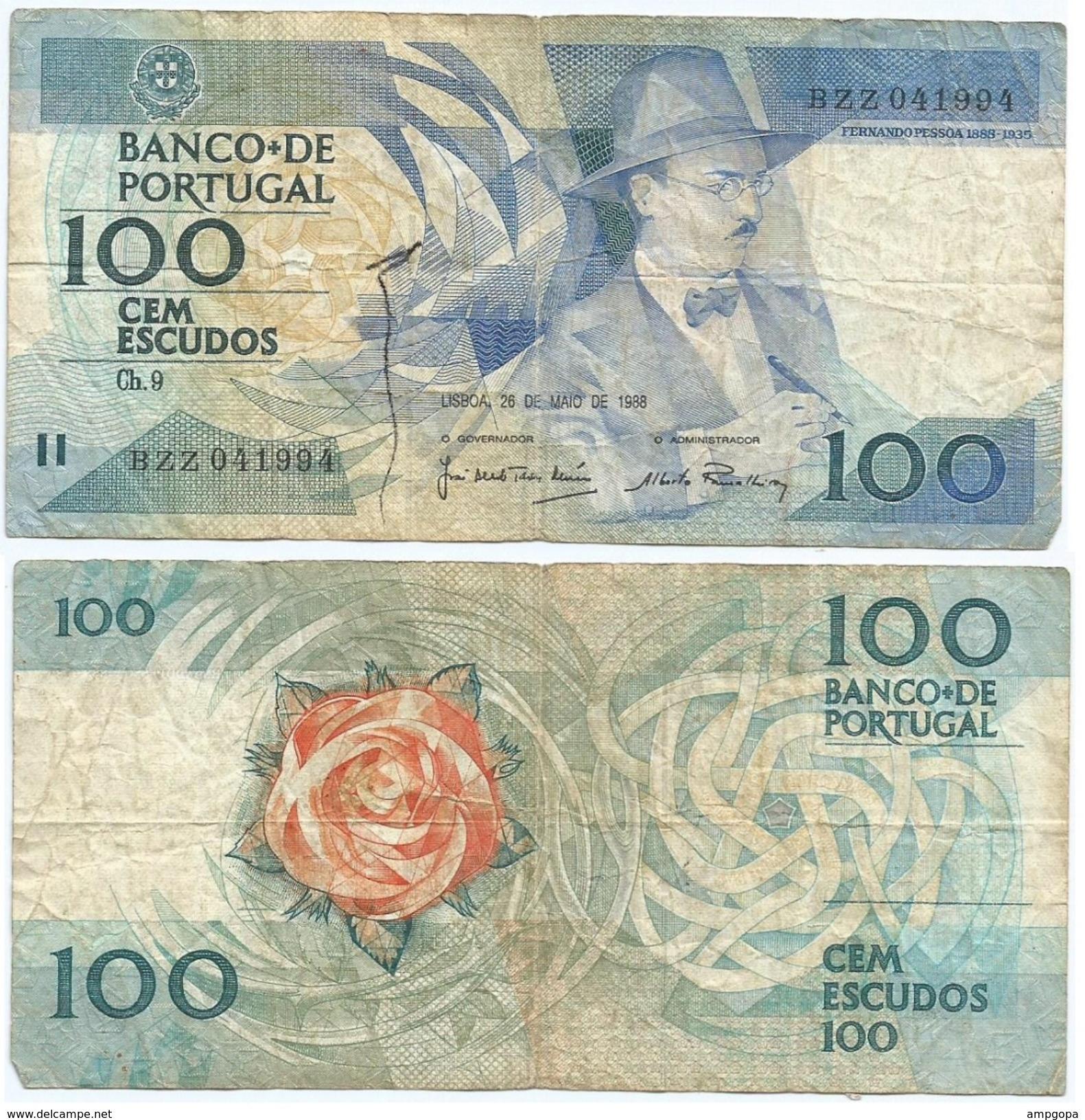 Portugal 100 Escudos 26-05-1988 Pick 179.e.5 Ref 645 - Portugal
