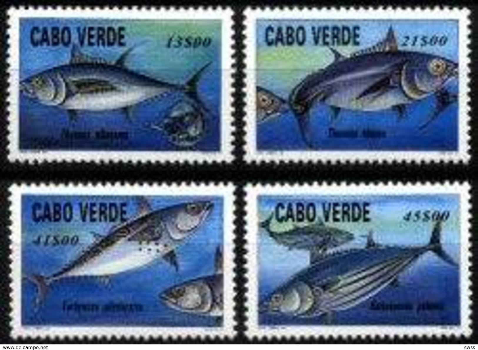 CAPE VERDE, 1997, MARINE FAUNA, TUNA FISH, R#377-80, MNH - Cap Vert