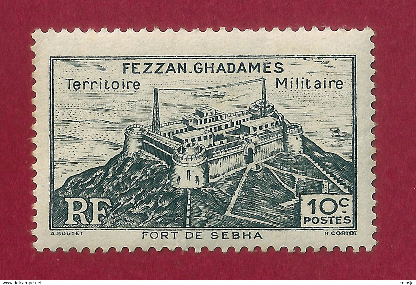 Fezzan.Ghadamés - 10 C - 1946 - Unused Stamps