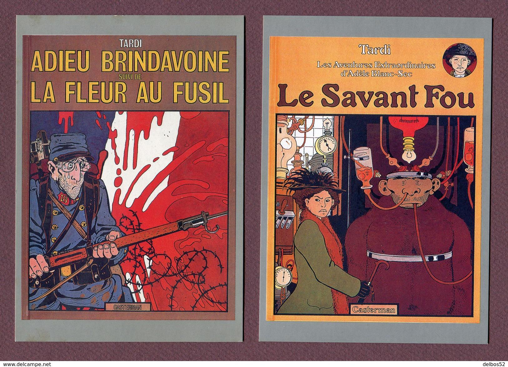 TARDI  : Lot De 8 Cartes Postales - Editions CASTERMAN 1985 - Comics