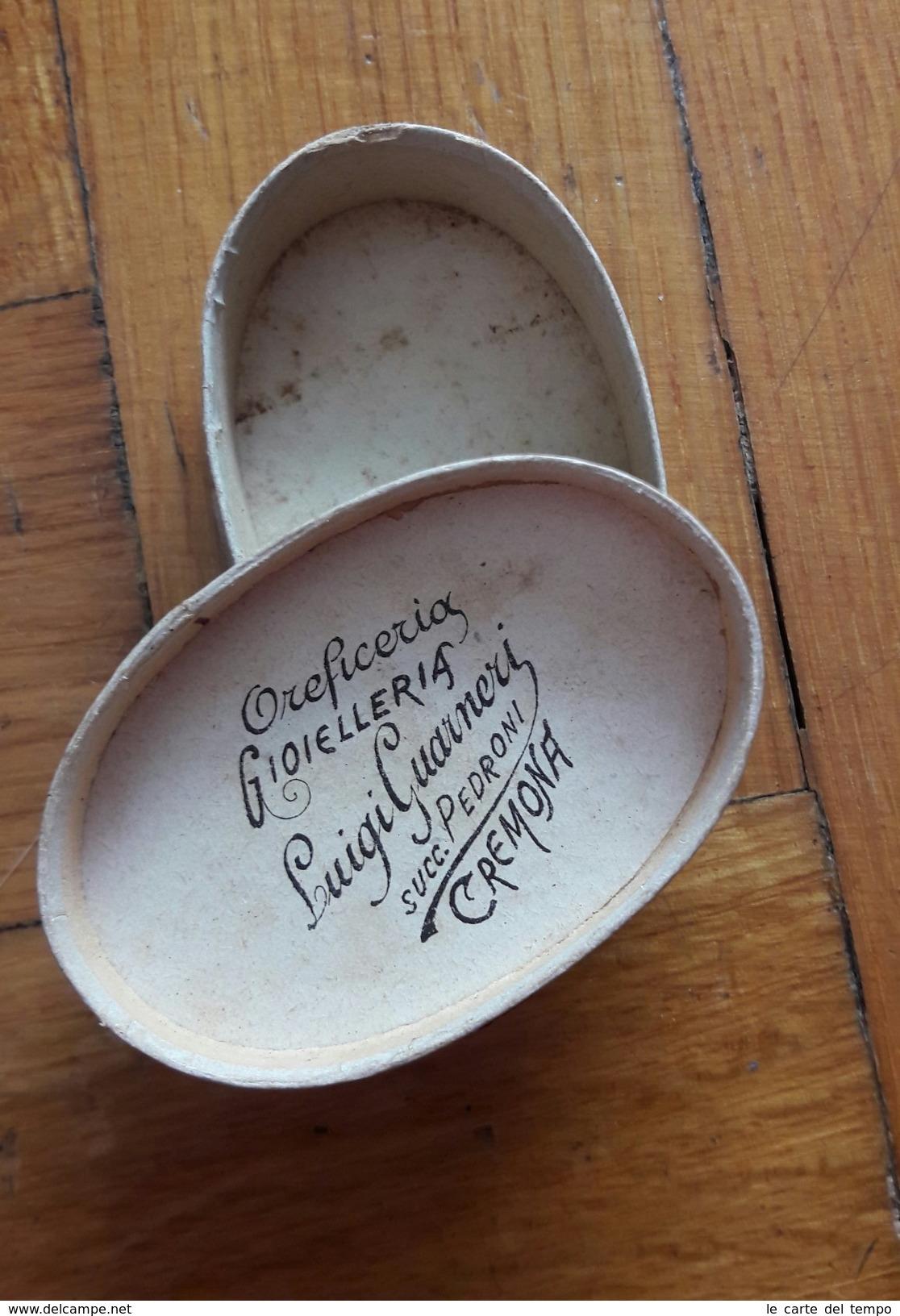 Scatola In Cartone Oreficeria Gioielleria LUIGI GUARNERI Succ. Pedroni - Cremona - Scatole
