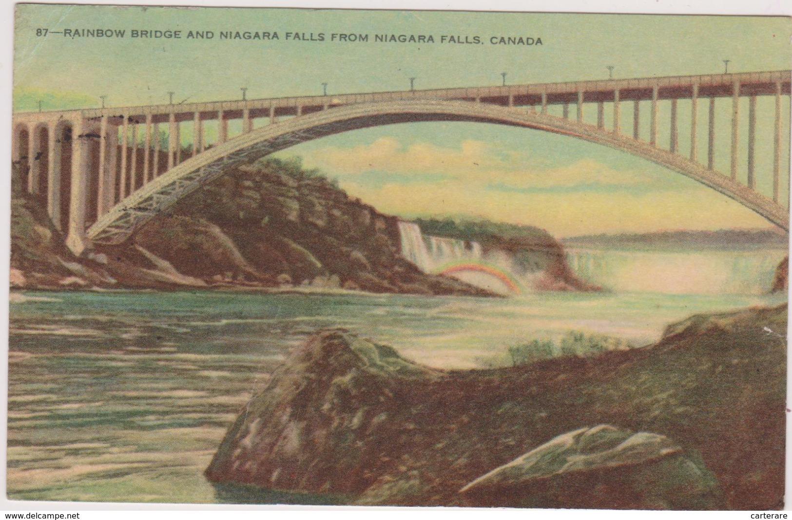 Carte Postale Ancienne,amérique,CANADA,1951,PONT,RAINBOW BRIDGE,NIAGARA - Canada