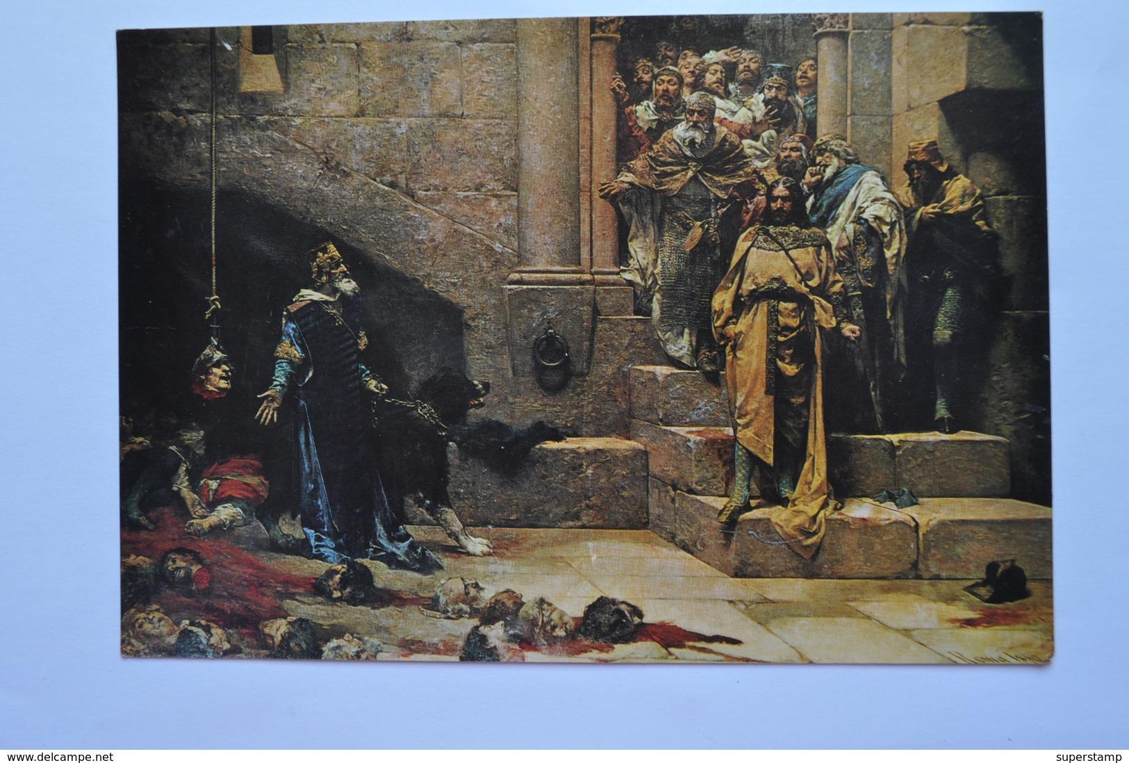 SPAIN HUESCA. AYUNTAMIENTO. RAMIRO II EL MONJE Y LA CAMPANA DE HUESCA. CUADRO DE CASADO DEL ALISAL.  647a - Huesca
