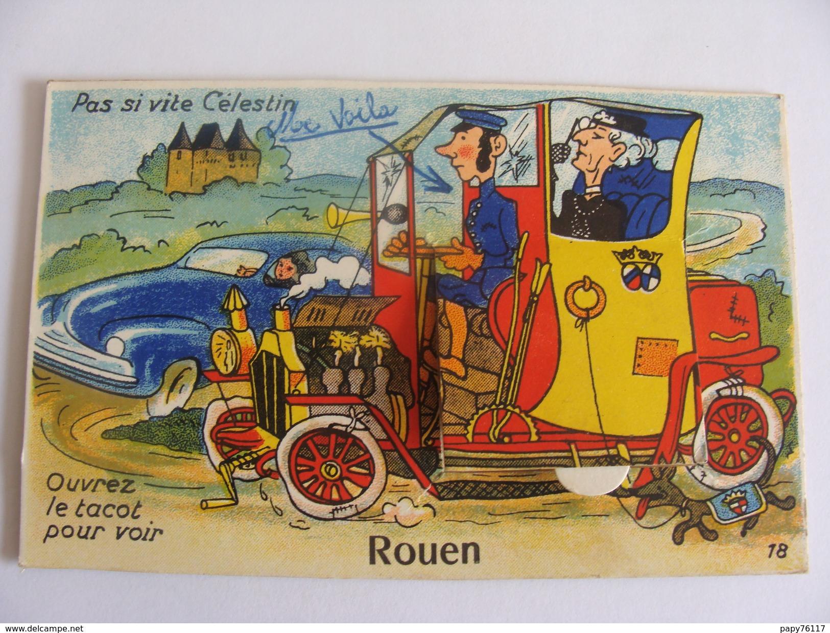 CPA 76  ROUEN  CARTE A SYSTHEME - Rouen