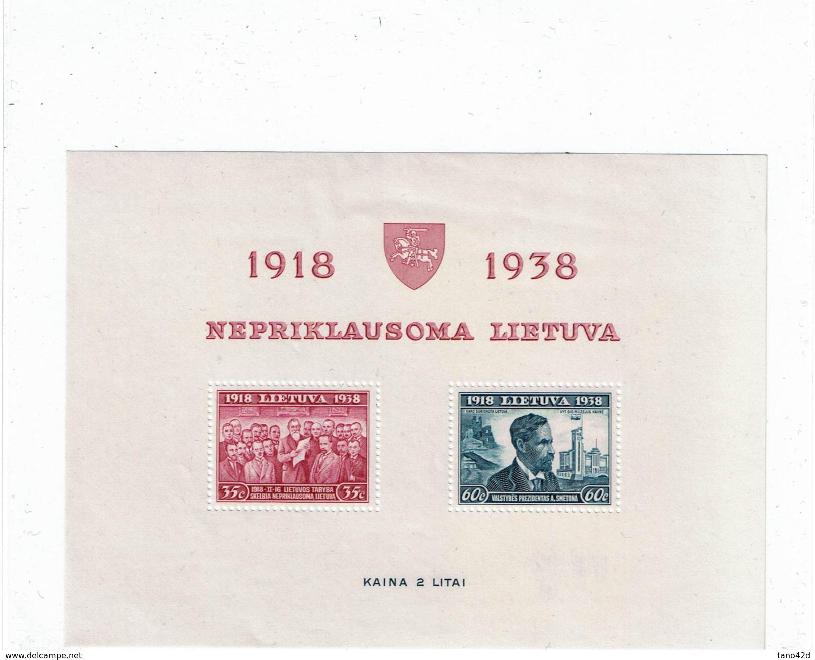CTN40/1 - LITUANIE BF N° 1 ** LUXE - Lithuania