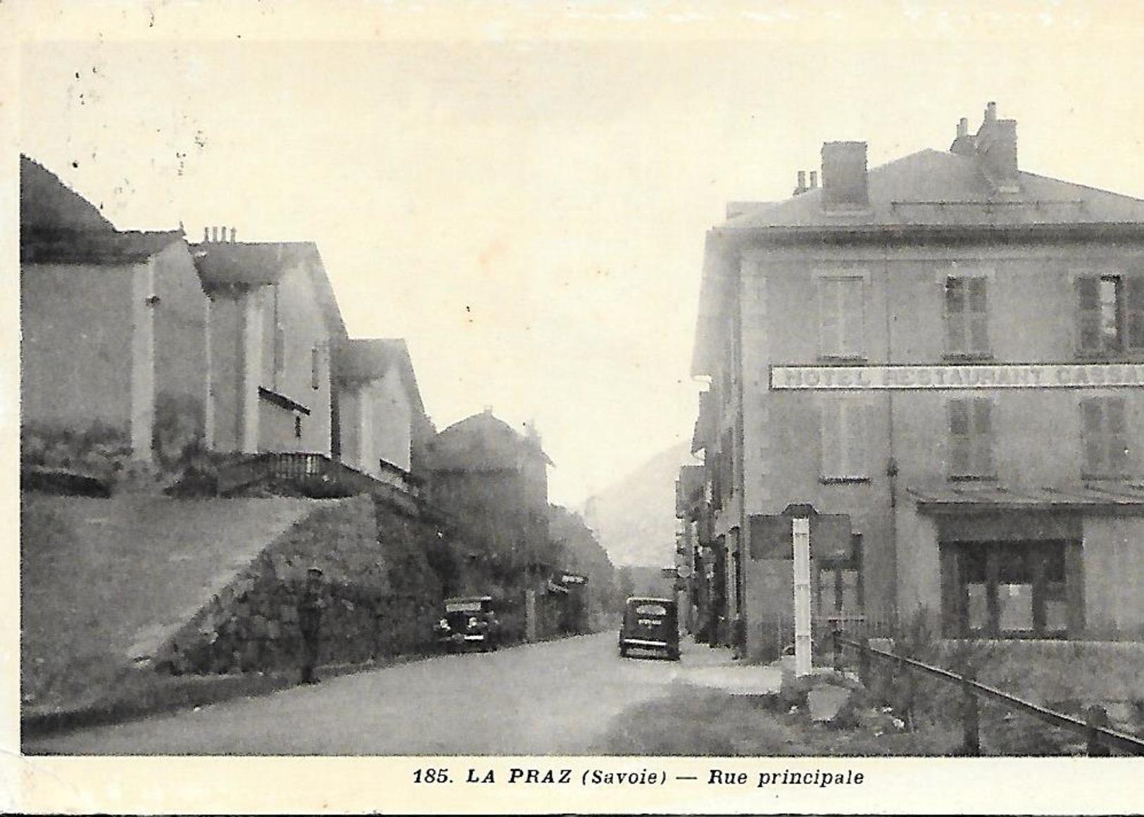 Cpa Savoie La Praz Rue Principale - France