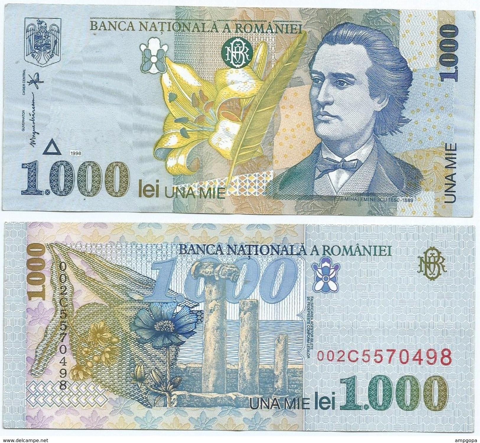 Rumanía - Romania 1.000 Lei 1998 Pick 106 Ref 653 - Rumania