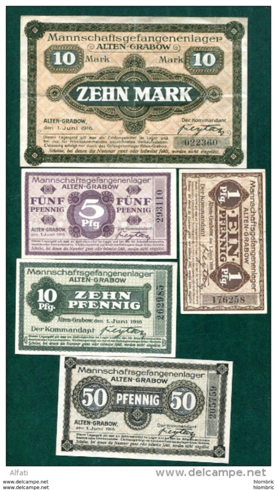 Alten  Grabow  10  Billets - Allemagne