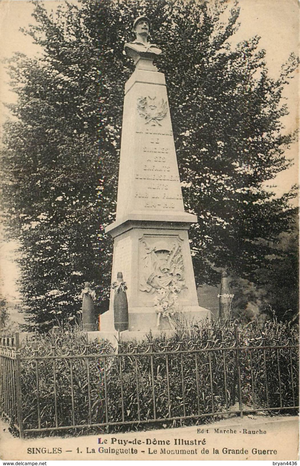 SINGLES - LA GUINGUETTE - LE MONUMENT DE LA GRANDE GUERRE - CPA. - France
