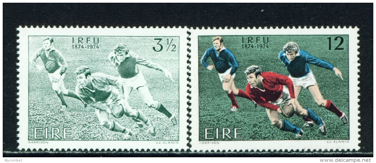 IRELAND  -  1974  Rugby  Set  Unmounted/Never Hinged Mint - Unused Stamps