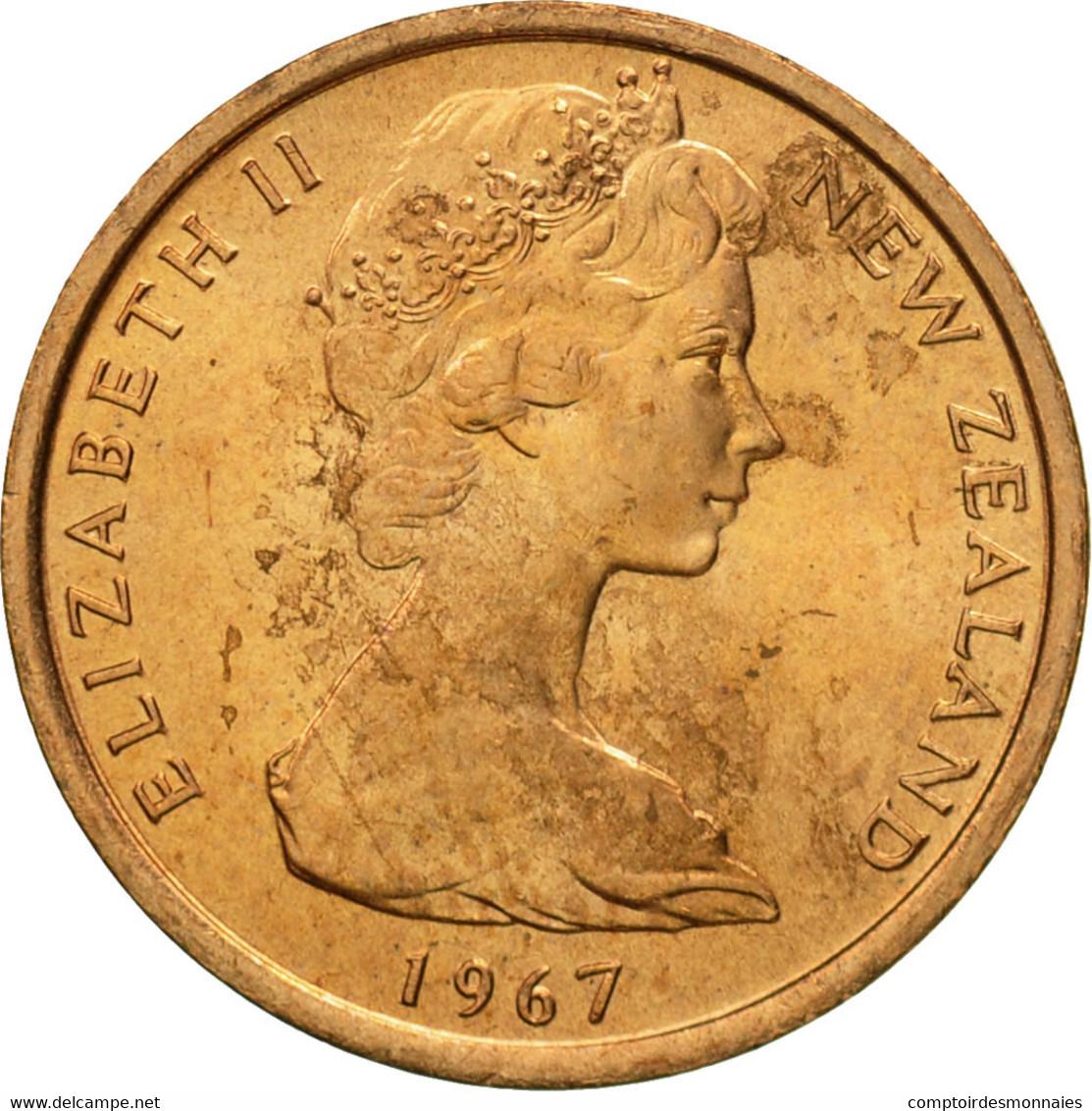 Nouvelle-Zélande, Elizabeth II, Cent, 1967, SUP+, Bronze, KM:31.1 - Nouvelle-Zélande