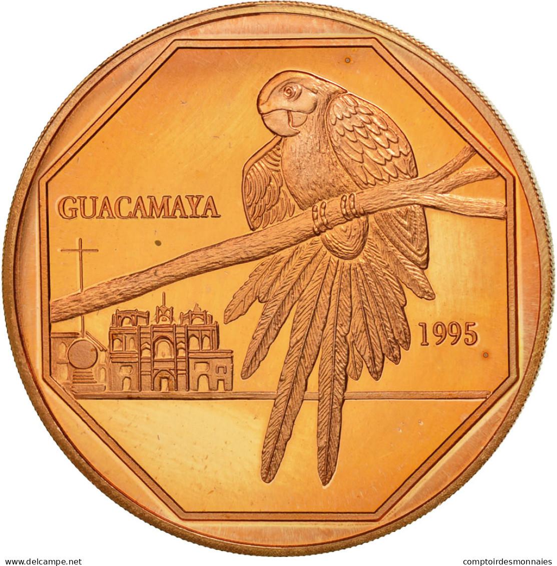 Guatemala, 50 Quetzales, 1995, Tower, SPL, Cuivre, KM:3e.1 - Guatemala