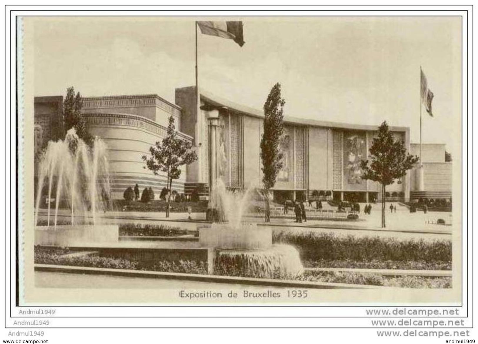 BRUXELLES - Exposition De 1935 - France - Esposizioni