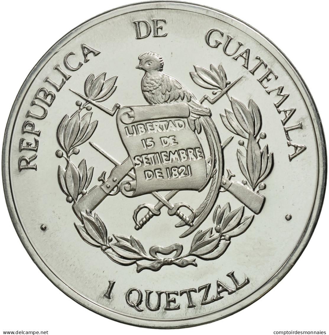 Guatemala, Quetzal, 1995, Tower, SPL, Aluminium, KM:1d.2 - Guatemala