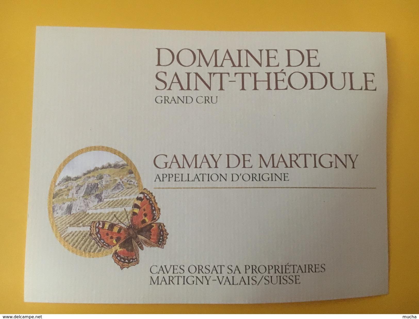 4245 -  Domaine De Saint-Théodule Gamay De Martigny  Valais Suisse Papillon - Autres