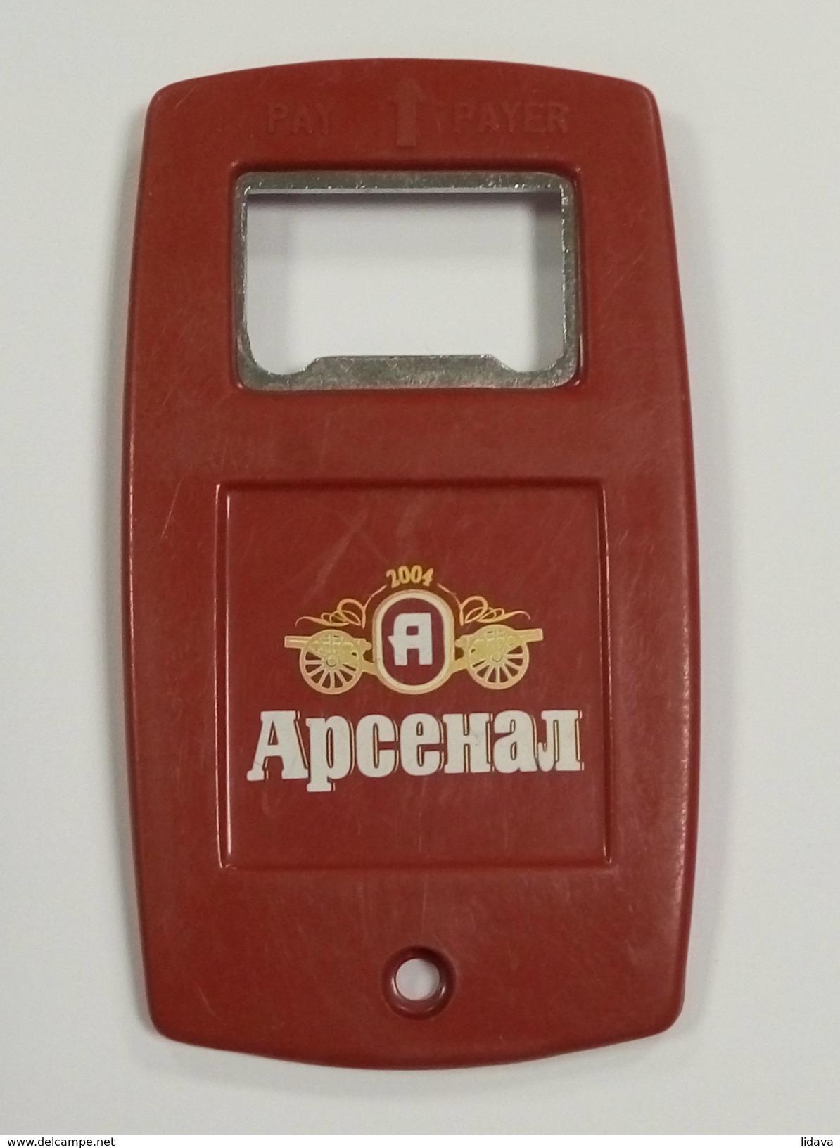 BEER PIVO ARSENAL Bottle Opener Flaschenöffner 48x87x3mm - Apri-bottiglie/levacapsule