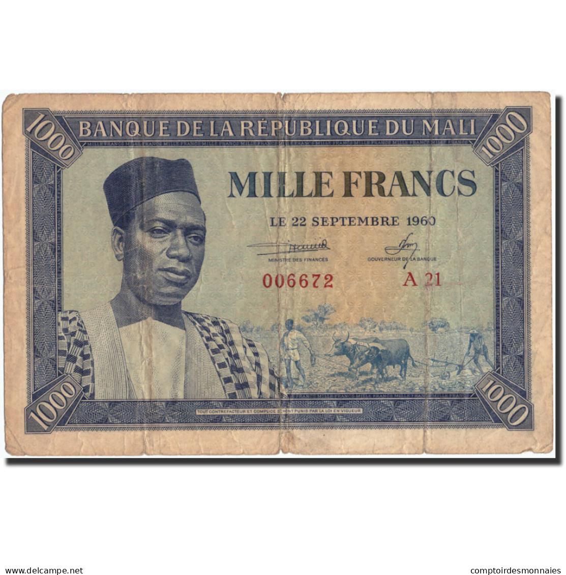 Mali, 1000 Francs, 1960, 1960-09-22, TB - Mali