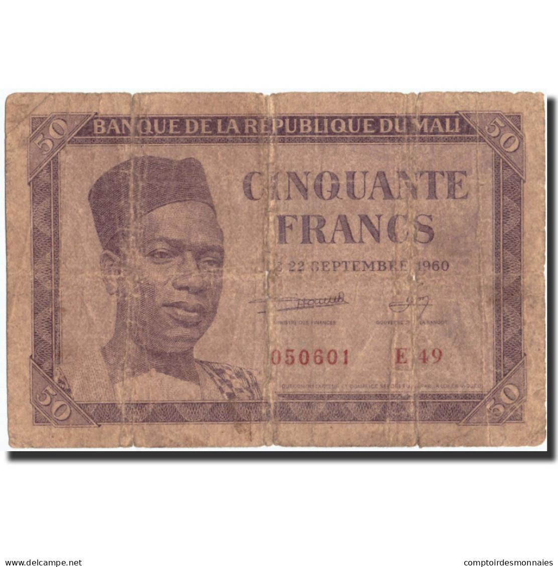 Mali, 50 Francs, 1960, KM:1, 1960-09-22, B - Mali